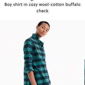 J. Crew boy shirt in cozy buffalo check wool